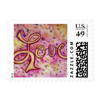 Love Pink Glamorous Postage Stamp