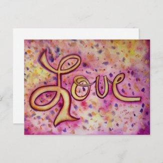 Love Pink Glamorous Postcard