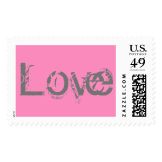 Love Pink/GrayPostage Stamp All Size Options