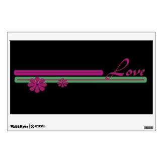 Love pink green wall sticker