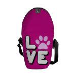 LOVE - PINK MESSENGER BAGS