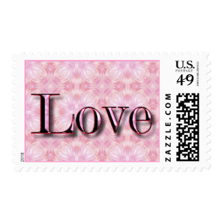 Love Pink Metallic Postage
