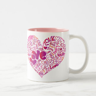 Love pink passion valentines mug