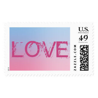 Love Pink Postage Stamp All Size Options