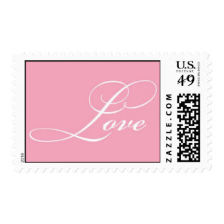 Love (pink) postage stamps