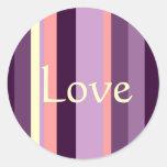 Love Pink Purple Envelope Seal Wedding Sticker