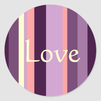 Love Pink Purple Envelope Seal Wedding Sticker