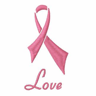 Love Pink Ribbon Sherpa-lined Zip Hoodie
