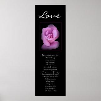 Love - Pink Rose Poster