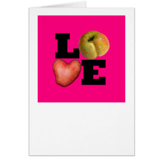 LOVE Pink Valentine's Day Greeting 2 Card