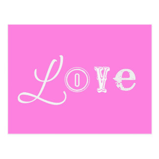 Love Pink vintage Postcard