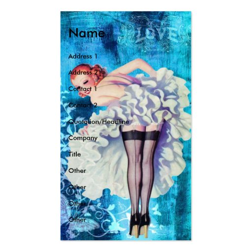 Love Pinup Double-Sided Standard Business Cards (Pack Of 100)