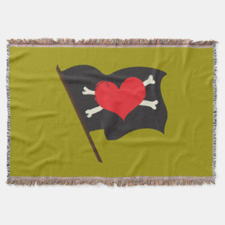 Love Pirate Throw Blanket