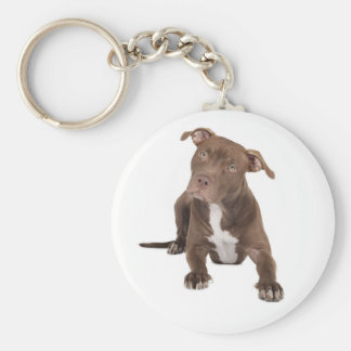 Love Pit Bull Puppy Dog Key Chain