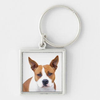 Love Pit Bull Puppy Dog Keychain