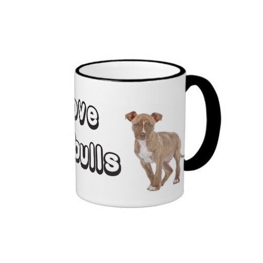 Love Pitbull Puppy Dog Coffee Cup Mug