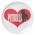 Love Pitbulls Plate