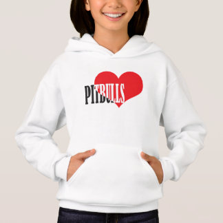 Love Pitbulls With A Heart Hoodie