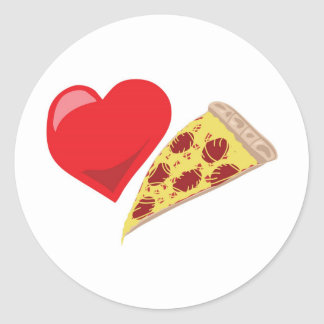 Love Pizza!  Customizable: Classic Round Sticker