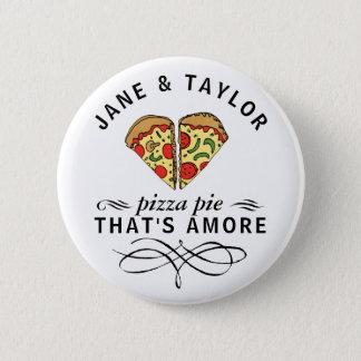 Love Pizza Personalized Button