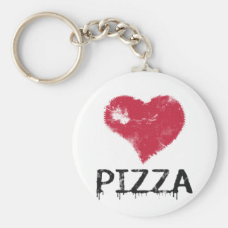 Love pizza - pizza is love, pizza is life keychain