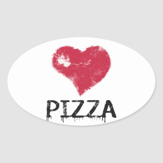 Love pizza - pizza is love, pizza is life oval sticker