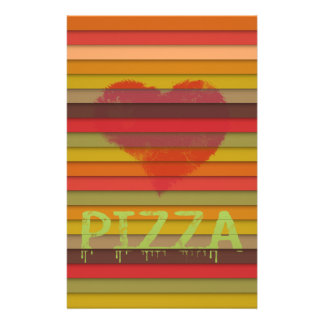 Love pizza - pizza is love, pizza is life stationery
