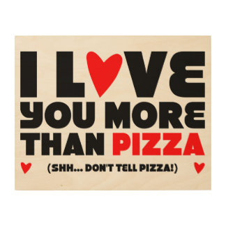 Love Pizza Wood Wall Art