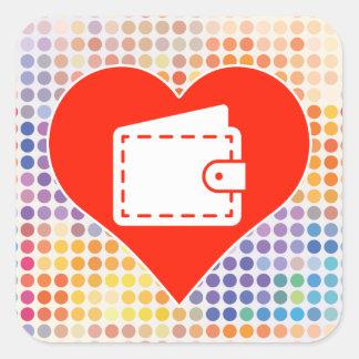 Love Plane Square Sticker