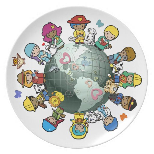 Love Planet Earth: Children Unite for Peace Party Plate