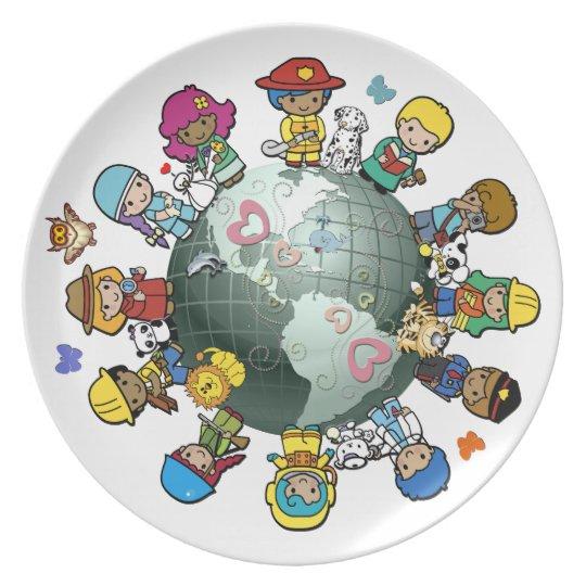 Love Planet Earth: Children Unite for Peace Plate
