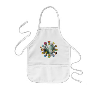 Love Planet Earth: Unite for Peace Kids' Apron