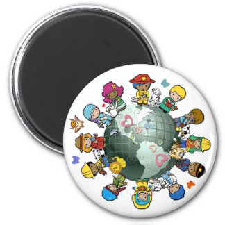 Love Planet Earth: Unite for Peace Magnet