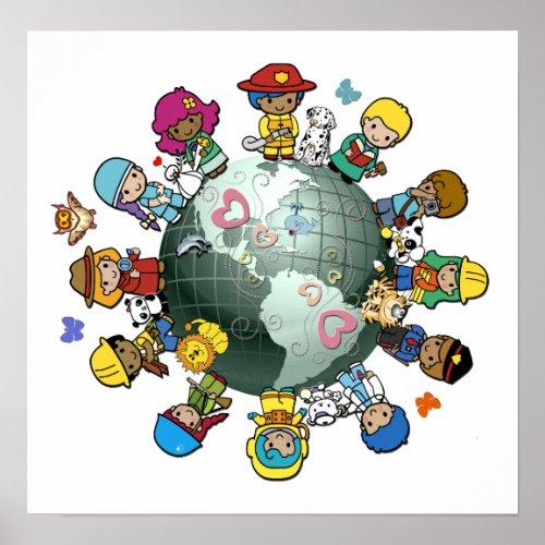 Love Planet Earth: Unite for Peace zazzle_print