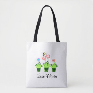 """Love Plants"" ""Nature Lover"" Tote Bag"