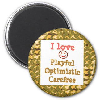 LOVE Playful OPTIMISTIC Carefree LOWPRICE Gifts Refrigerator Magnet