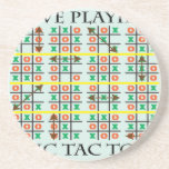 Love Playing Tic Tac Toe.ai Drink Coasters