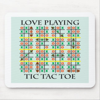 Love Playing Tic Tac Toe.ai Mouse Pads