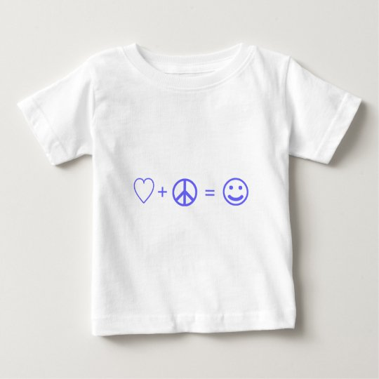 Love plus Peace equals Happiness Baby T-Shirt
