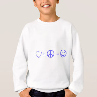 Love plus Peace equals Happiness Sweatshirt