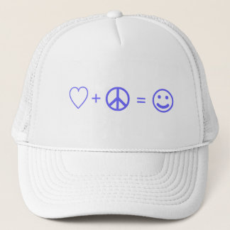 Love plus Peace equals Happiness Trucker Hat
