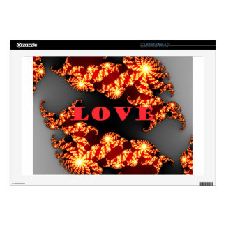 """Love.png 17"""" Laptop Decals"""