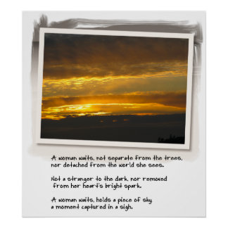 Love Poem and Birch Bay Sunset Poster