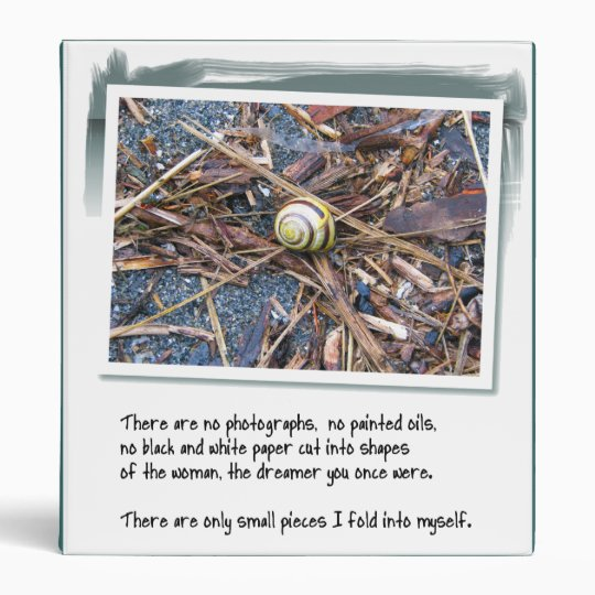 Love Poem and Snail 3 Ring Binder