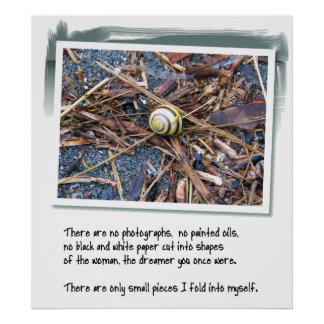Love Poem and Snail Poster
