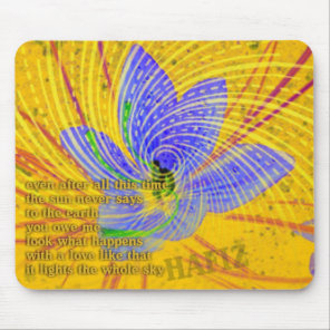 Love Poem by Hafiz Mouse Pad