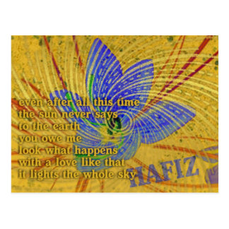 Love Poem by Hafiz Postcard