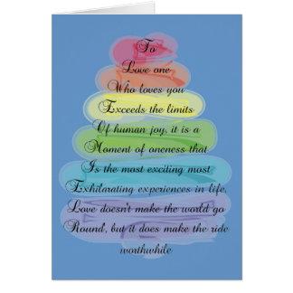"""Love"" Poem Gifts Artsy Tree Design Card"
