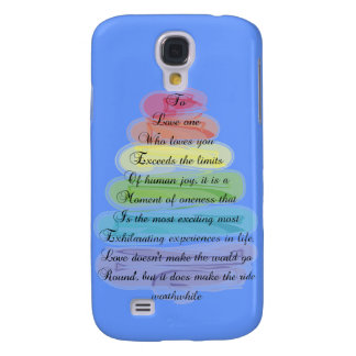 """""""Love"""" Poem Gifts Artsy Tree Design Galaxy S4 Covers"""