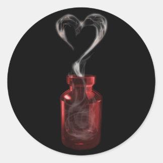 love poison classic round sticker
